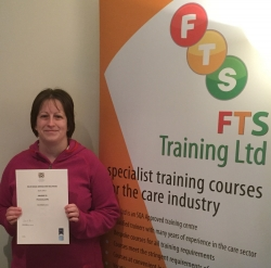 Successful completion of the SVQ 3 Social Services Healthcare award. Well done Paula