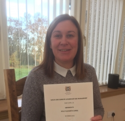 Successful completion of the Leadership and Management of Care Services award. Congratulations Kelly