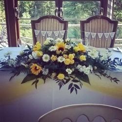 Top table arrangement at Craigynos Castle