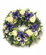 Green, White and Blue Wreath