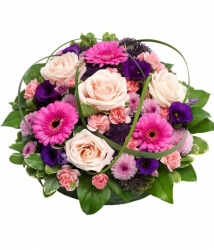 Pink & Purple Posy Arrangement