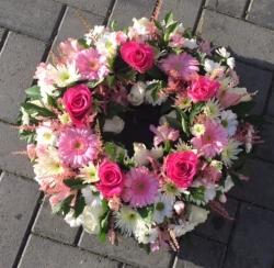 Loose Pink Wreath