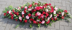 Carnation and Rose Coffin Spray