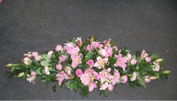 Pink Lily and Rose Coffin Spray.