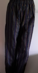 Blue, Red, Multi- Striped BohoTrousers