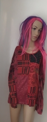 Red Patchwork Hippy Top