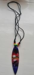 Surfer Pendant Necklace, Purple, Pink,Purple