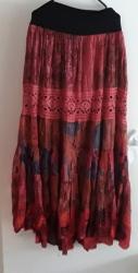 Red Boho Gypsy Skirt