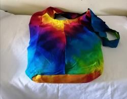 Rainbow Tie-dye Shoulder Bag