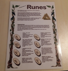 An Easy Guide to The Runes, Laminated Sheet