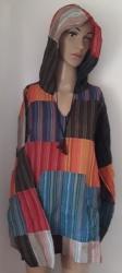 Bright Pinstripe Hooded Shirt