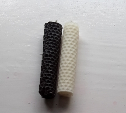 Altar Candles, Beeswax, Black/White