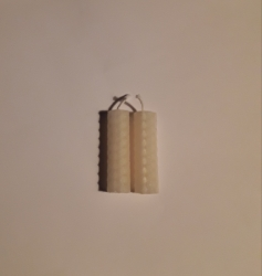 Small White Beeswax Candles, 2, Imbolc