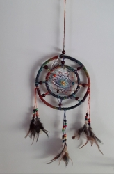 Dreamcatcher Multicoloured Double Hoop