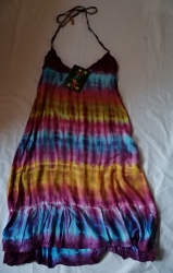 Tie-dye Halter-Neck  Dress, Size M/L