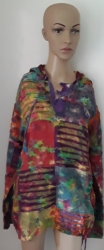 Hooded Tie-Dye Top