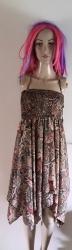 Brown Handkerchief Dress