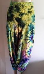 Rayon Harems, Turquoise Tie-dye