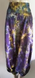 Tie-Dye Hippy Harems, purple/yellow