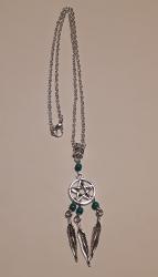 Pentacle Dreamcatcher Necklace
