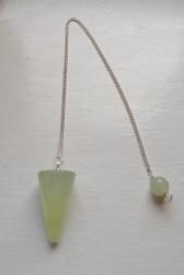 Jade Crystal Pendulum Cone