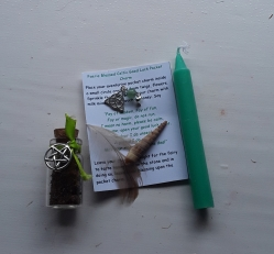 Charm, and Spell Bag, Lucky Celtic Fae Blessing