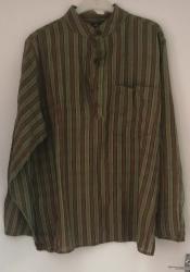 Shirt Green/Brown Stripe