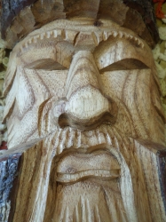 Hand-Carved Wooden Wall-Hang
