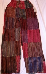 Striped Patchwork Trousers