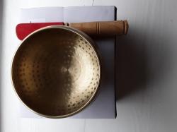Beaten Brass Singing Bowl, 12cm