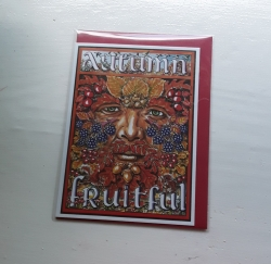 Autumn Green Man Card