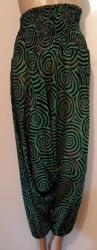 Green Spiral Harem Pants