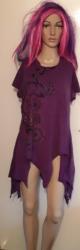 Purple Short Sleeved Hooded Top