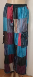 Boho Striped Patchwork Trousers