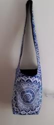 Blue Mandala Boho Bag