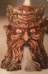 Backflow Incense Burner, Green Man