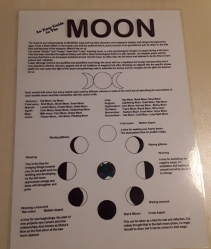 Easy Guide To The Moon, A4 Laminated Sheet