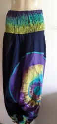 Hippy Harem Tie-dye Trousers, Black