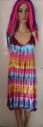 Tie-dye Halter-Neck  Dress