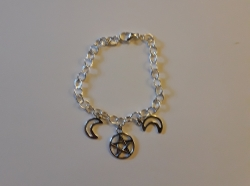 Pentacle Triple Goddess Bracelet