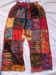 Multi-Patchwork Trousers, Size M/L