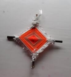 Orange Brigid Cross, 6