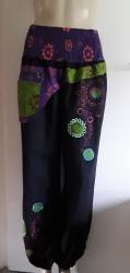 Black & Purple Baggy Trousers