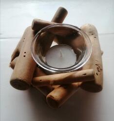 Driftwood tea-Light Holder