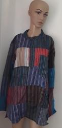 Patchwork Pinstripe Shirt