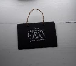 Slate Hanging Garden Plaque