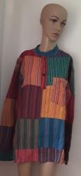 Bright Pin-Stripe Hippy Shirt