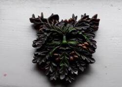 Green Man Wall Plaque, Oak King