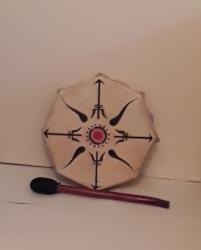 Medium Painted Tribal Drum