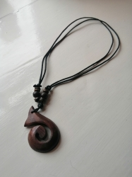 Maori-Style Carved Pendant Necklace